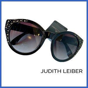 🏷 🆕 Judith Leiber Crystal Embellished Sunglasses
